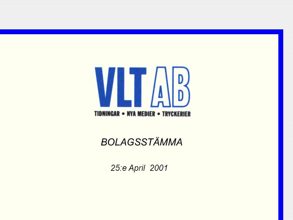 25:e April 2001 BOLAGSSTÄMMA