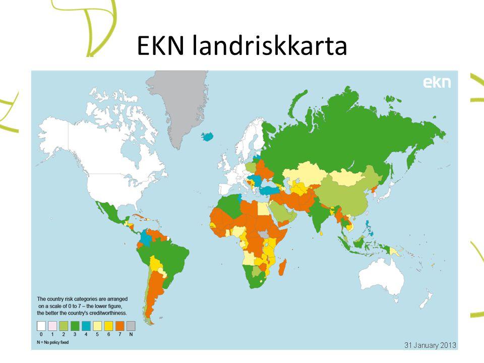 EKN landriskkarta