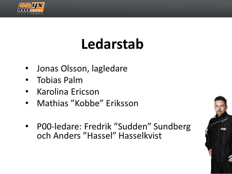 Ledarstab • Jonas Olsson, lagledare • Tobias Palm • Karolina Ericson • Mathias Kobbe Eriksson • P00-ledare: Fredrik Sudden Sundberg och Anders Hassel Hasselkvist