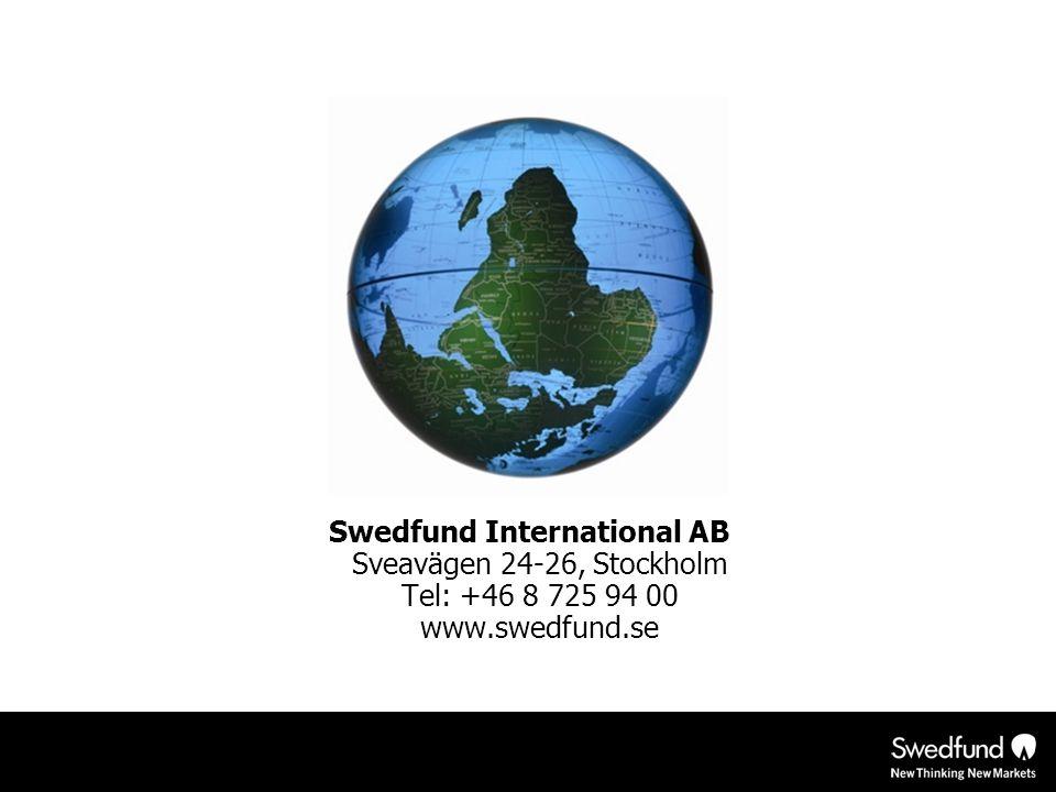 Swedfund International AB Sveavägen 24-26, Stockholm Tel: +46 8 725 94 00 www.swedfund.se