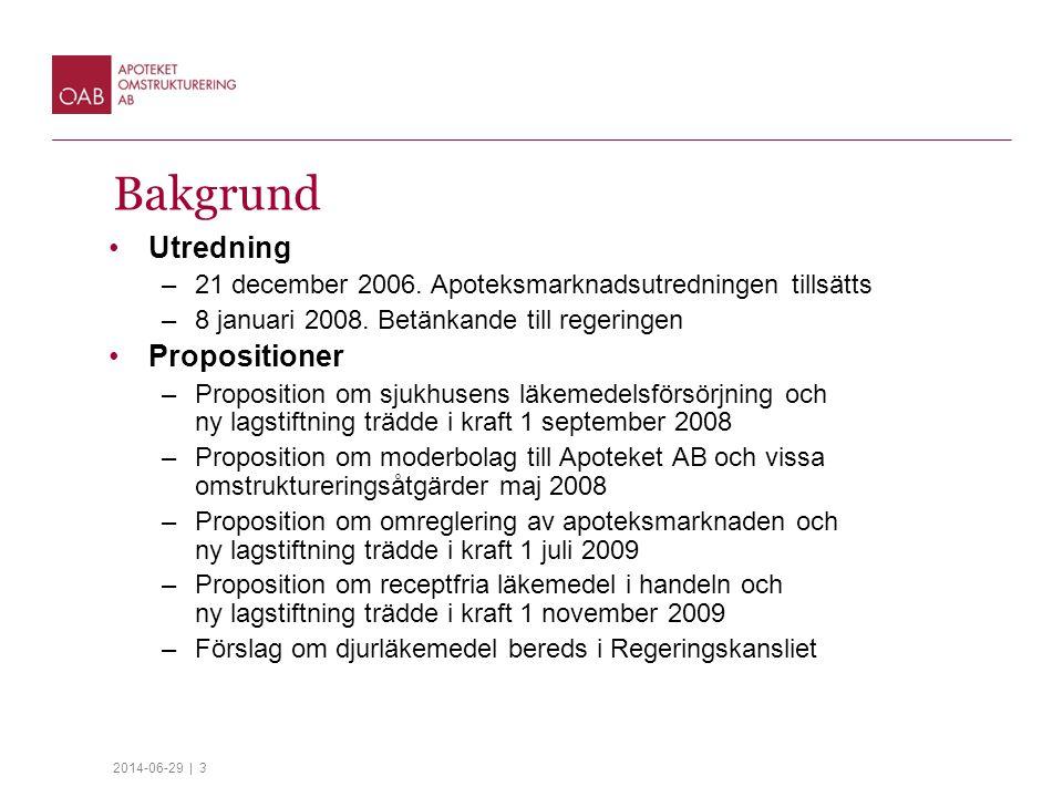2014-06-29 | 3 Bakgrund •Utredning –21 december 2006.