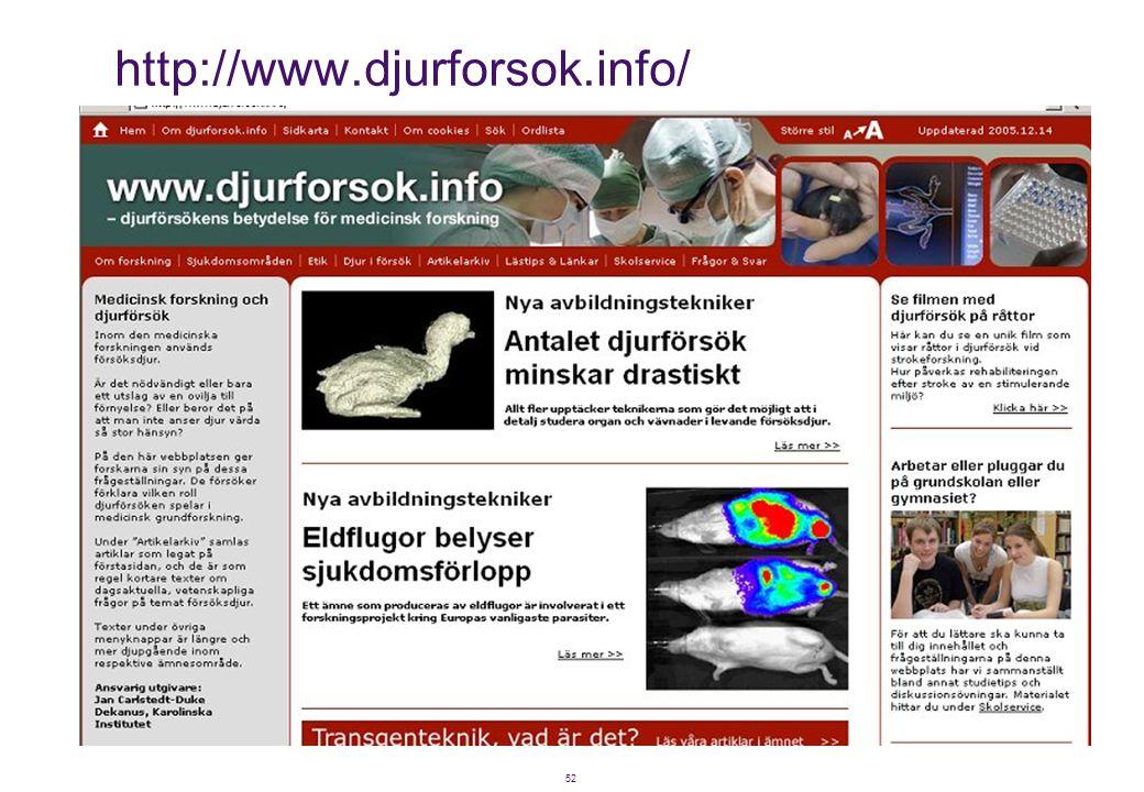 52 http://www.djurforsok.info/
