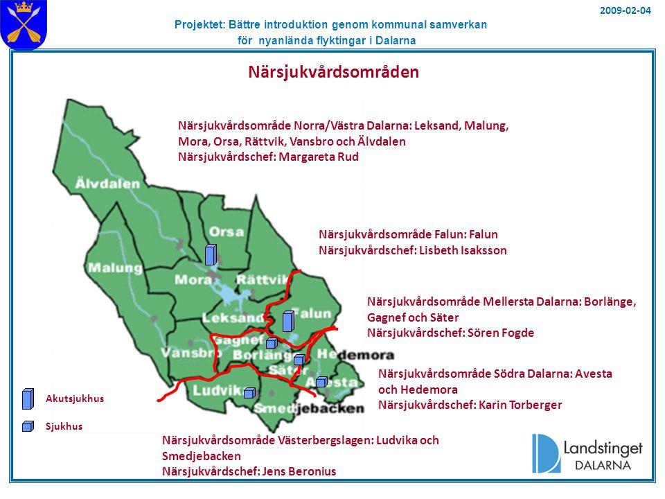 Projektet: Bättre introduktion genom kommunal samverkan för nyanlända flyktingar i Dalarna Landstingsfullmäktige Skolförvaltning Kultur-nämnd Landstinget Dalarnas organisation Huvud- kontoret Hel- och delägda bolag och stiftelser Beställarenhet för tandvård Tandvårds- förvaltning Landstingsstyrelse Revisorskollegiet Landstingsstyrelse- utskott - Finansutskott (FiU) - Hälso- och sjukvårdsutskott (HSU) - Personalutskott (PU) - Serviceutskott (SU) - Samverkansutskott (SaU) - Miljö- och Trafikutskott (MTU) 2009-02-04 Tandvårds- nämnd Kultur- förvaltning Skolnämnd Landstingsdirektör Revisions- chef Patientnämnden HSN Södra HSN V-bergslagen HSN Falun HSN Norra/Västra HSN Mellersta Patient- nämndens kansli Landstings-service LD Hjälpmedel Närsjukvården Dalarna Länssjukvården Dalarna
