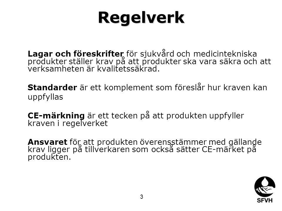 Global standard IECISOITU Europeisk standard (EN) CENELECCENETSI Svensk standard (SS) SEKSISITS 14