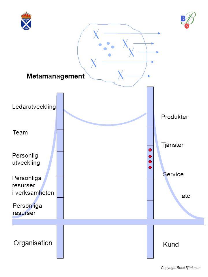 Metamanagement Ledarutveckling Team etc Service Tjänster Produkter Organisation Kund Personliga resurser i verksamheten Personlig utveckling Personliga resurser Copyright Bertil Björkman