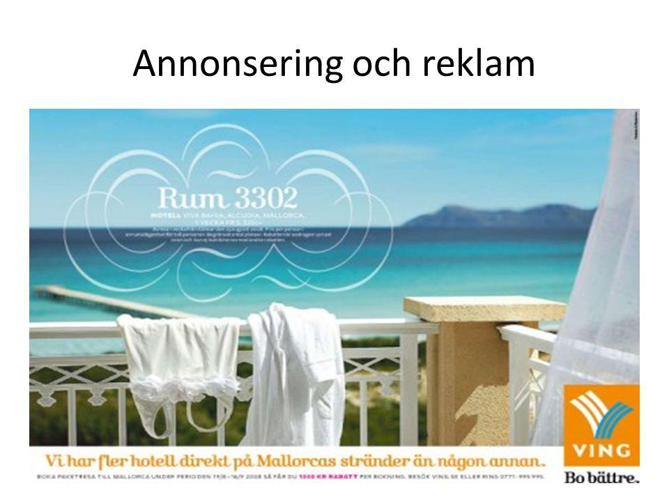 Annonsering och reklam