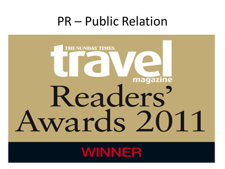 PR – Public Relation