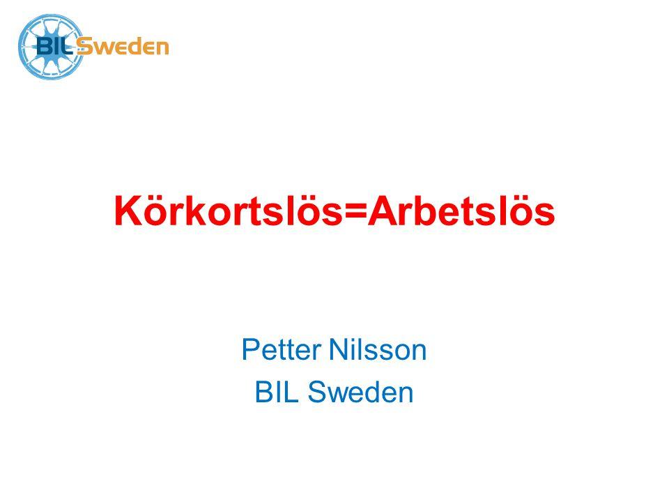 Körkortslös=Arbetslös Petter Nilsson BIL Sweden