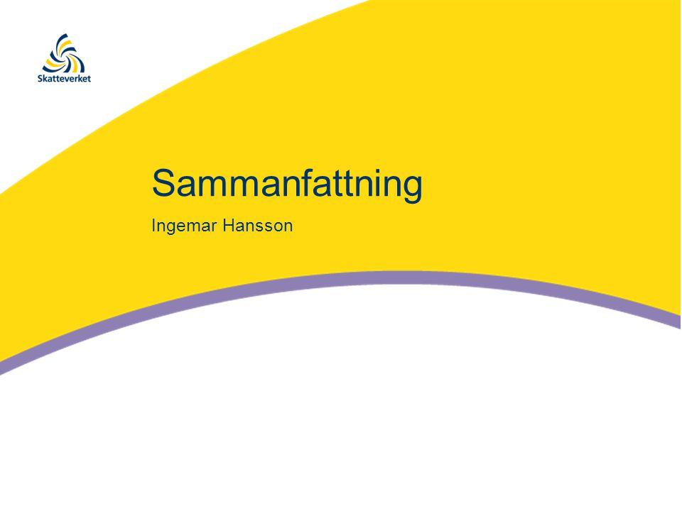 Sammanfattning Ingemar Hansson