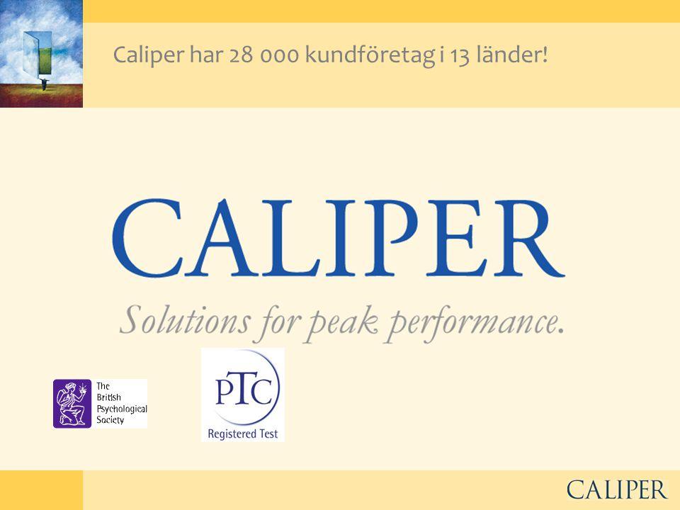 Caliper har 28 000 kundföretag i 13 länder!