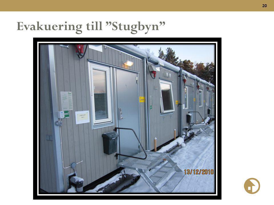 """20 Evakuering till """"Stugbyn"""""""