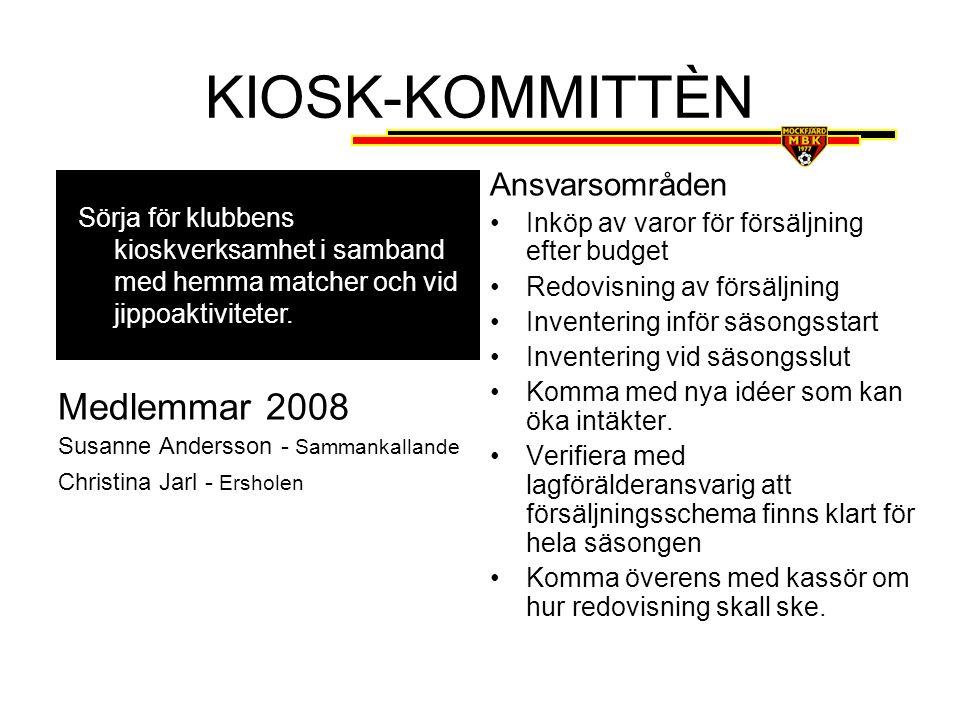 DOMARKOMMITTÈN Medlemmar 2008 Stefan Henriksson – Ungdomslagen & Sammankallande VAKANT – Seniorlagen Ansvarsområden –Lägga upp schema för alla MBK:s hemma matcher.
