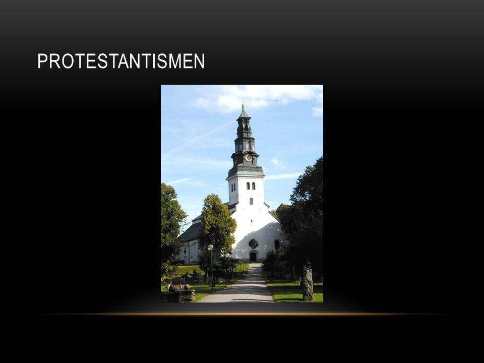 REFORMATIONEN • Martin Luther (1483-1546) • 95 teser i Wittenberg • Förbjöd läror och riter som inte fanns i Bibeln • Tysk munk • Översatte bibeln till tyska • Bannlyst • Förföljd