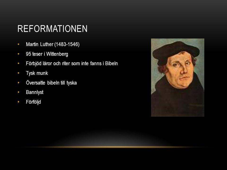 KALVINISMEN • Jean Calvin (1509-1564) • Verkade främst i Schweiz • Hård morallära