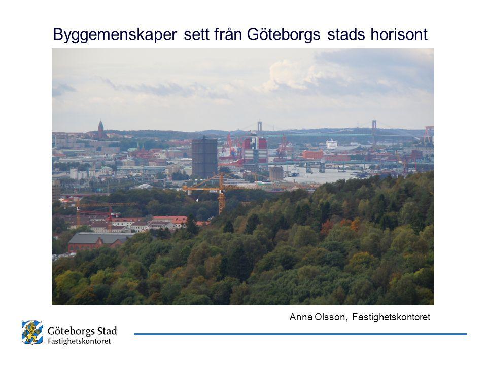 Datum Namn Presentationens namn Byggemenskaper sett från Göteborgs stads horisont Anna Olsson, Fastighetskontoret