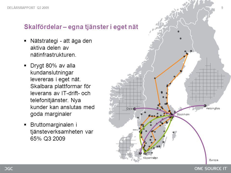 9  Nätstrategi - att äga den aktiva delen av nätinfrastrukturen.