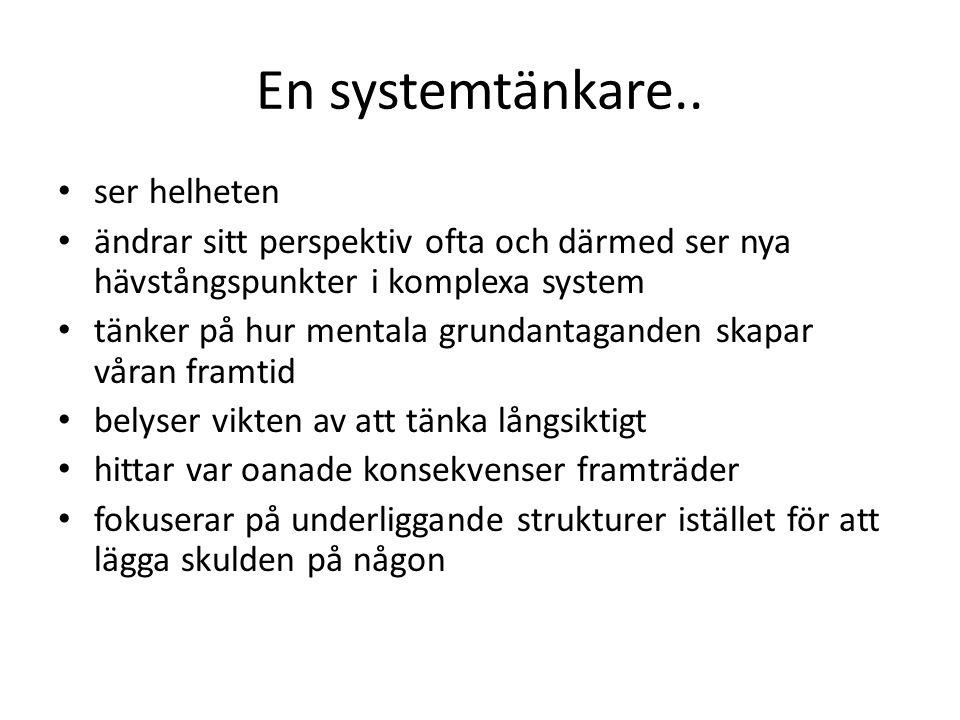 En systemtänkare..