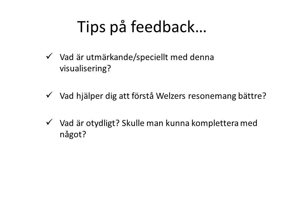 Tips på feedback…  Vad är utmärkande/speciellt med denna visualisering.