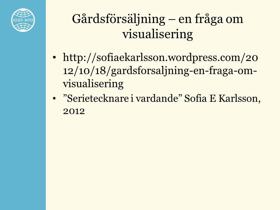 """Gårdsförsäljning – en fråga om visualisering • http://sofiaekarlsson.wordpress.com/20 12/10/18/gardsforsaljning-en-fraga-om- visualisering • """"Serietec"""