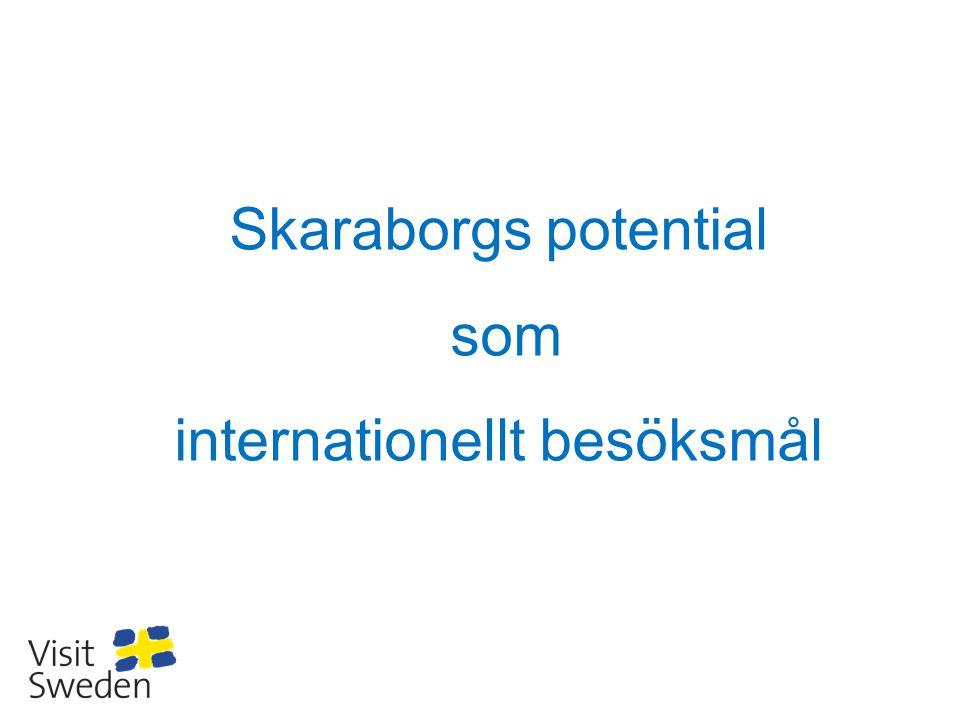 Produktutvecklingen och förmedlingen av kunskaper om Skaraborg till marknaden, samt tvärtom, kan INTE göras på marknaden – destinationen är komplicerad: - Hundratals Hotell i alla kategorier – researrangörerna utomlands kan inte bedöma dem - Sevärdheter, upplevelseutbudet, muséer, aktivitetsutbudet etc - – Researrangörerna utomlands saknar kunskap, kontakter, lokal förankring