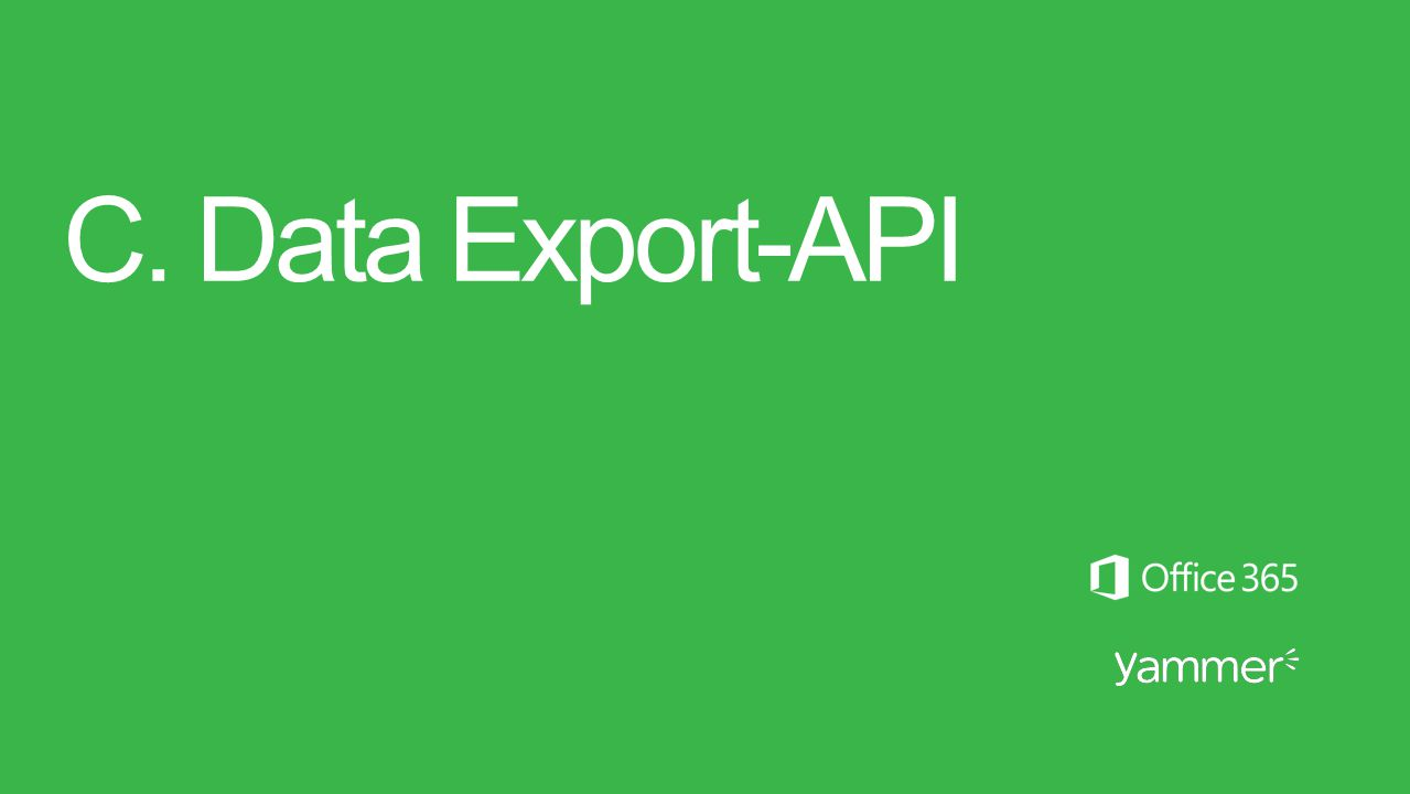 C. Data Export-API