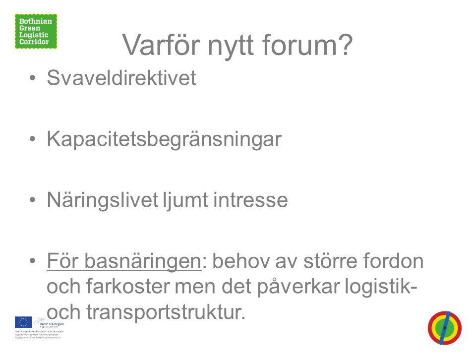 Varför nytt forum.