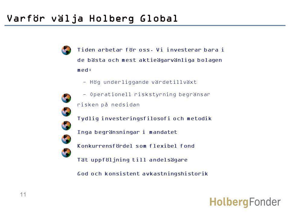 11 Varför välja Holberg Global Tiden arbetar för oss.