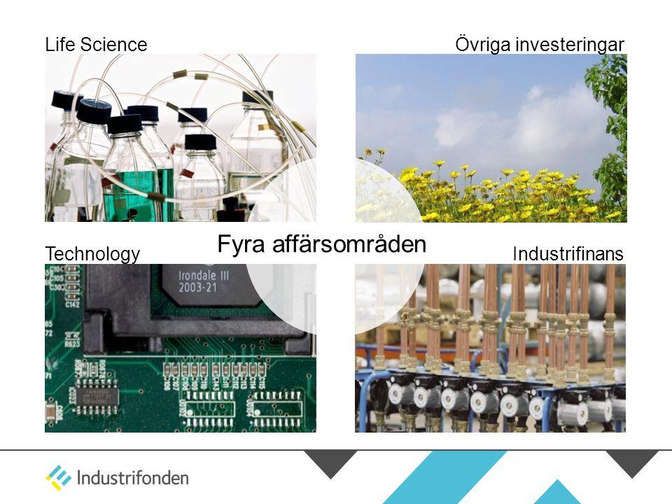Technology Life Science Industrifinans Övriga investeringar Fyra affärsområden