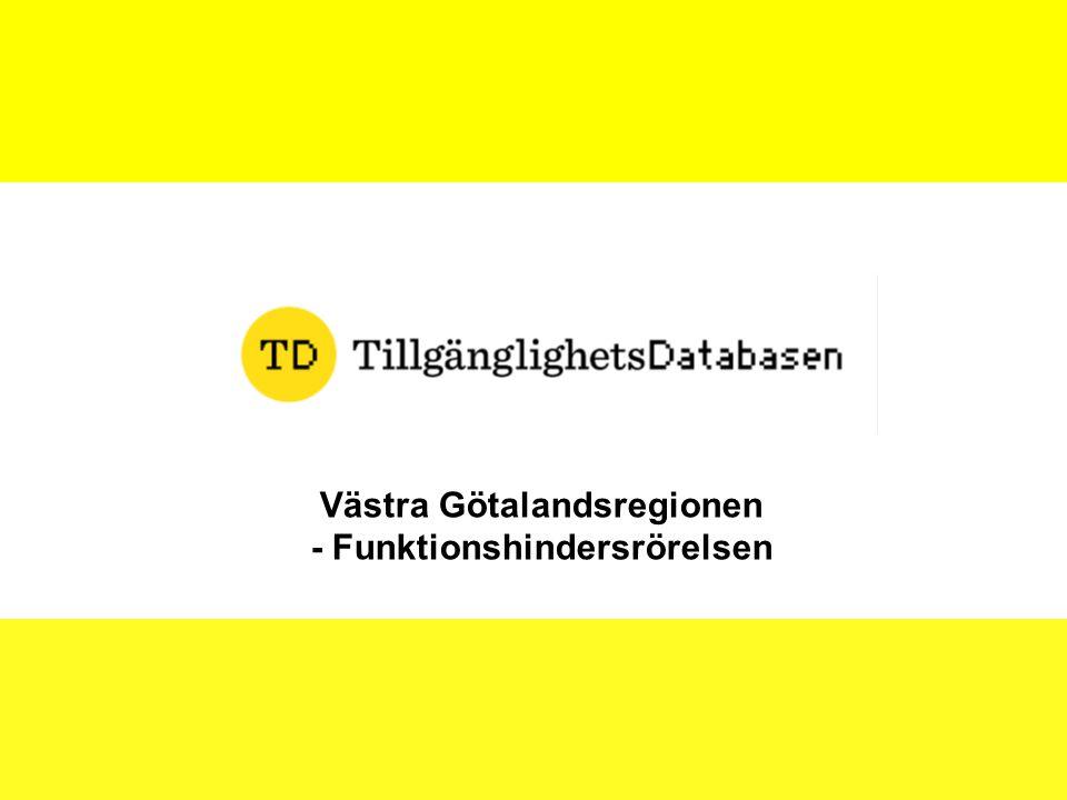 Västra Götalandsregionen - Funktionshindersrörelsen