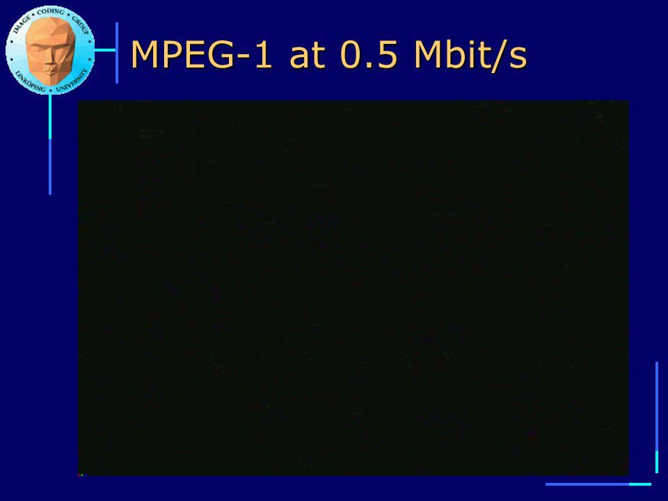 MPEG-1 at 0.5 Mbit/s