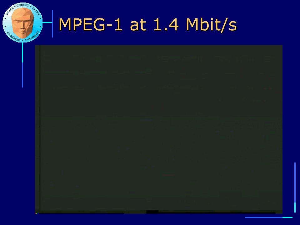MPEG-1 at 1.4 Mbit/s