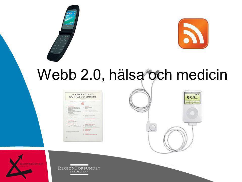 Webb 2.0, hälsa och medicin