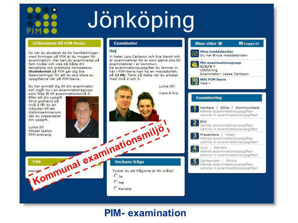 PIM- examination Kommunal examinationsmiljö