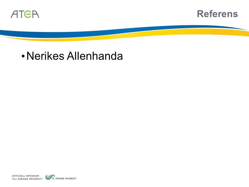 Referens • Nerikes Allenhanda