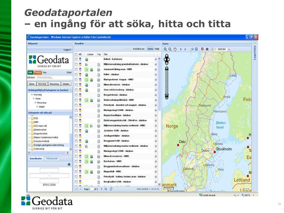 24 Geodataportalen – en ingång för att söka, hitta och titta
