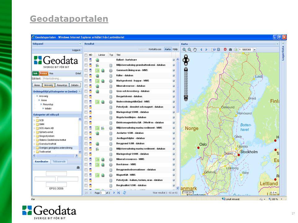 27 Geodataportalen
