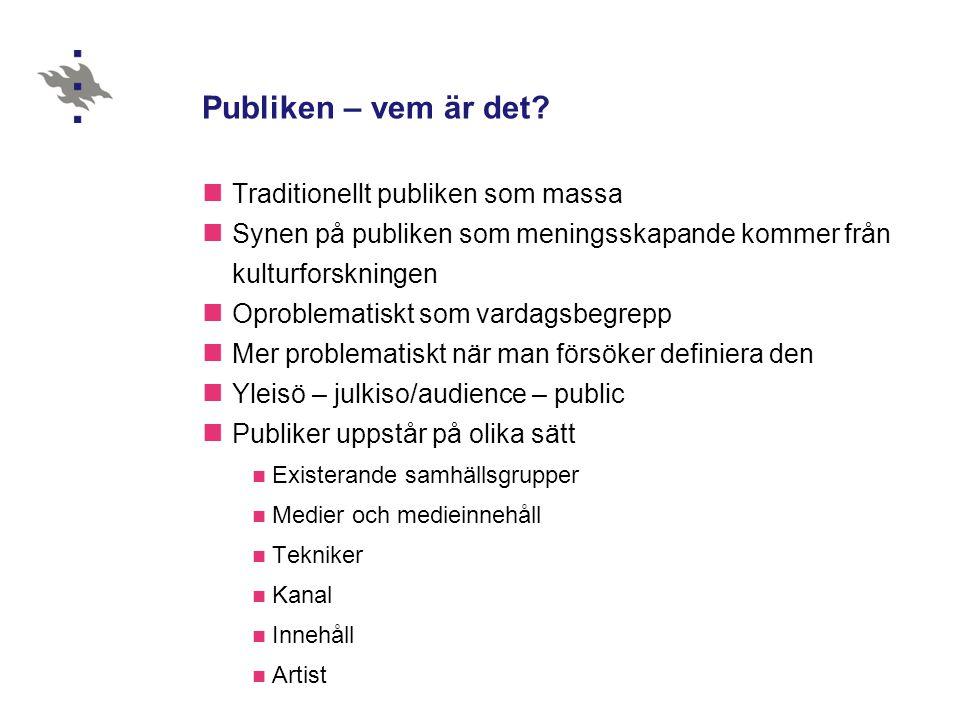 Konstruerad publik – läsaravtal (Töyry 2005)  Varför är de finländska damtidningarna som de är.