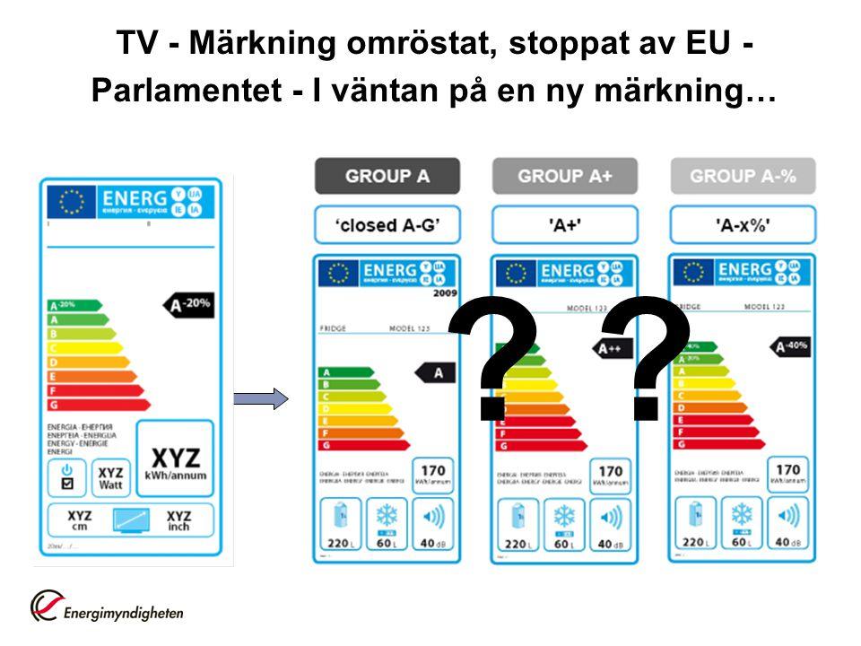 TV - Märkning omröstat, stoppat av EU - Parlamentet - I väntan på en ny märkning… ?