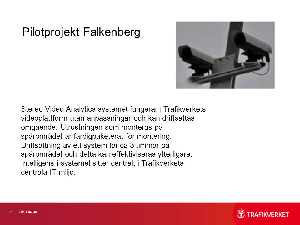 222014-06-30 Stereo Video Analytics systemet fungerar i Trafikverkets videoplattform utan anpassningar och kan driftsättas omgående. Utrustningen som