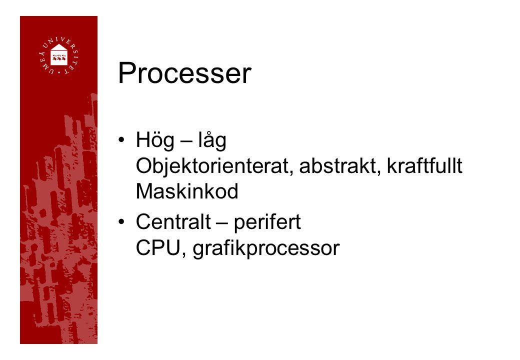 Objektorienterade Objekt med dess egenskaper och beteenden i (den riktiga) världen. •C++ •Java