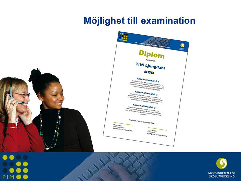 Möjlighet till examination