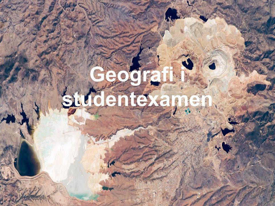Geografi i studentexamen