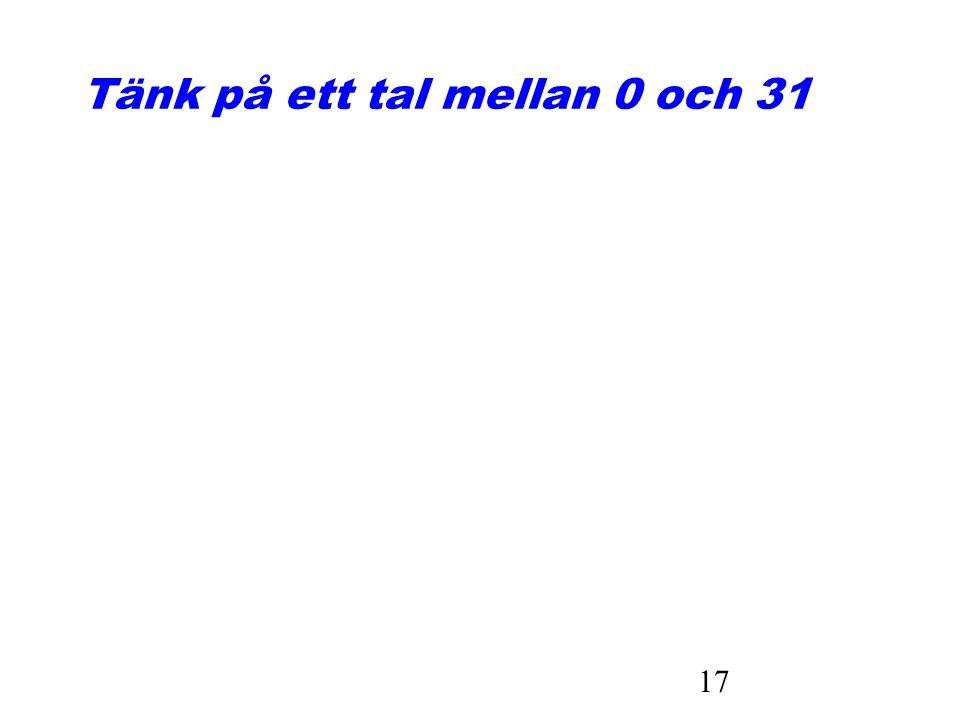 17 Tänk på ett tal mellan 0 och 31