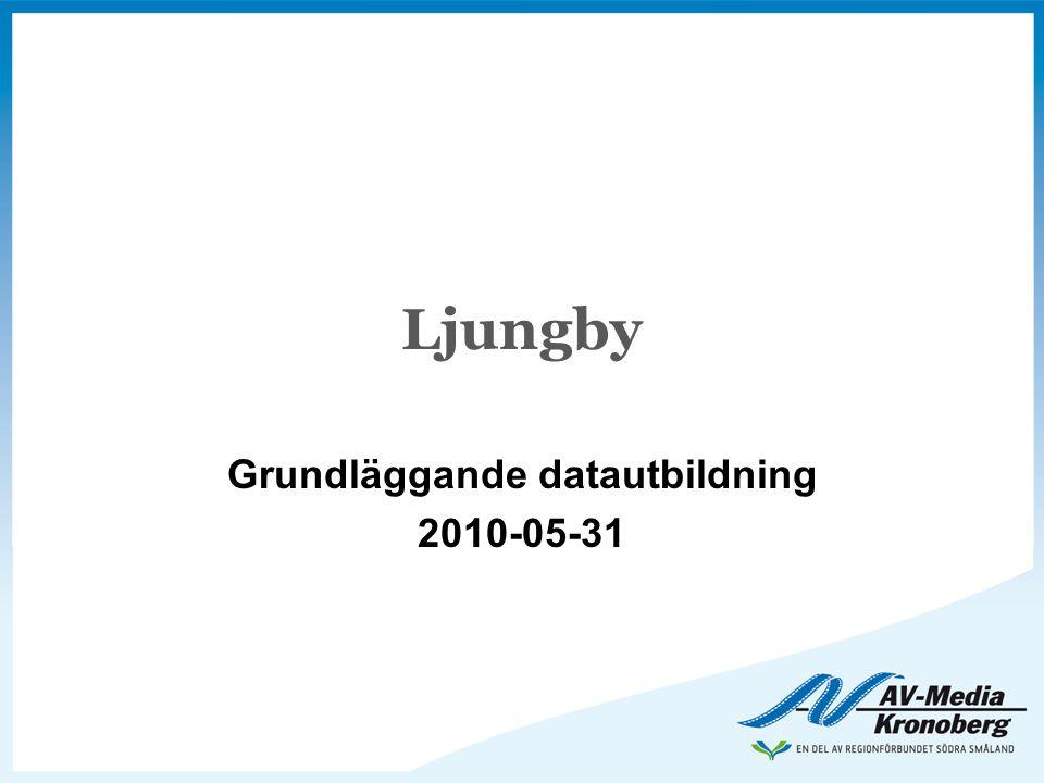 Ljungby Grundläggande datautbildning 2010-05-31