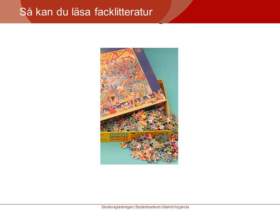 Större mångfald Så kan du läsa facklitteratur Studievägledningen | Studentcentrum | Malmö högskola