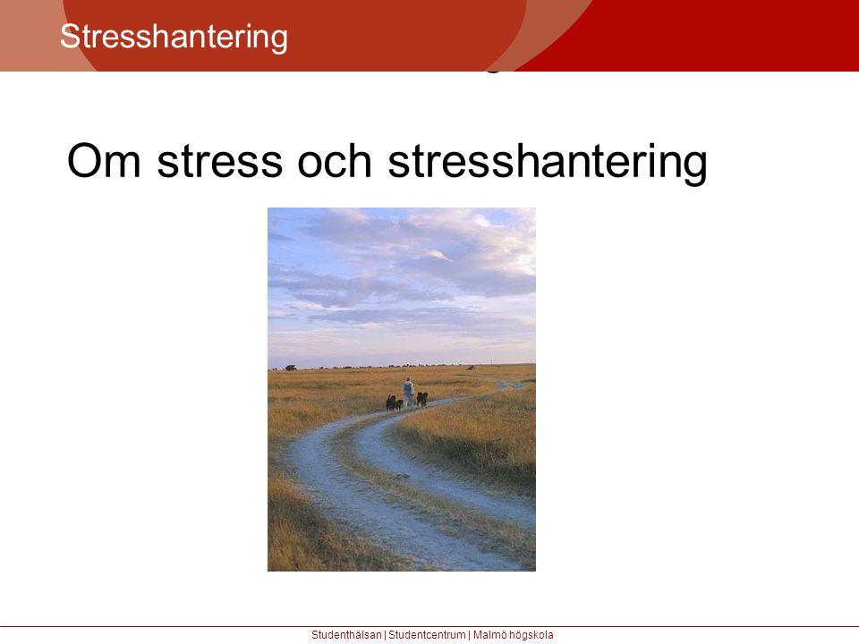 Större mångfald Stresshantering Studenthälsan | Studentcentrum | Malmö högskola Om stress och stresshantering