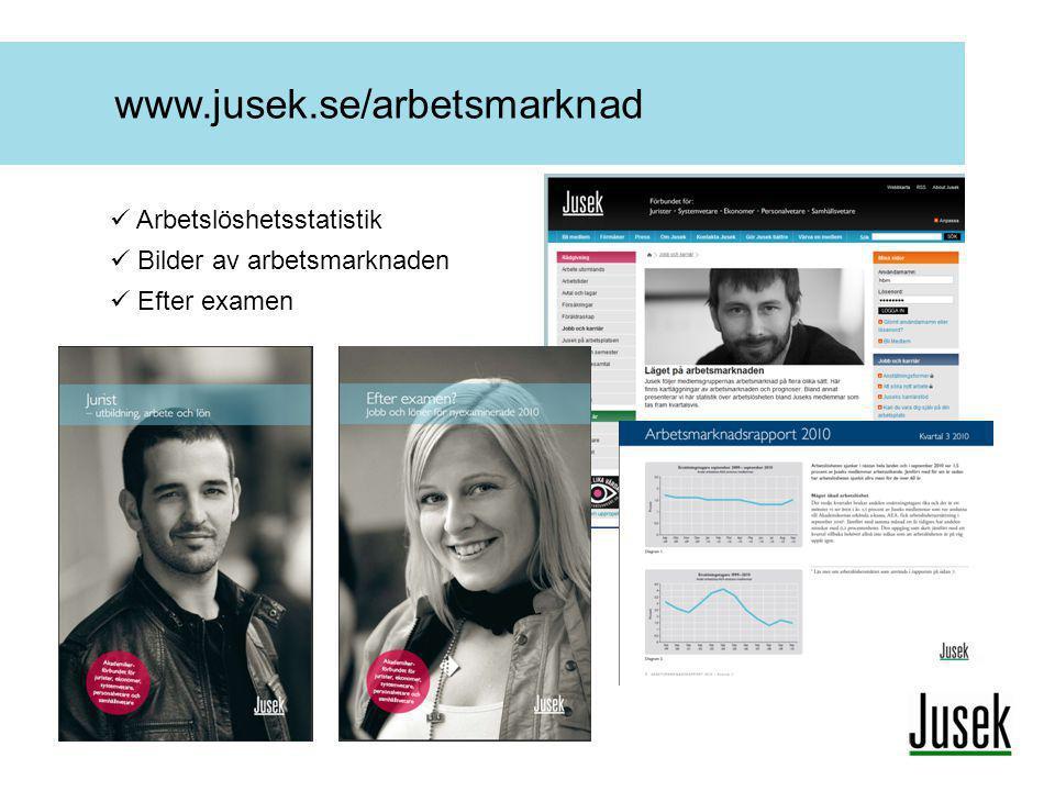 www.jusek.se/arbetsmarknad  Arbetslöshetsstatistik  Bilder av arbetsmarknaden  Efter examen