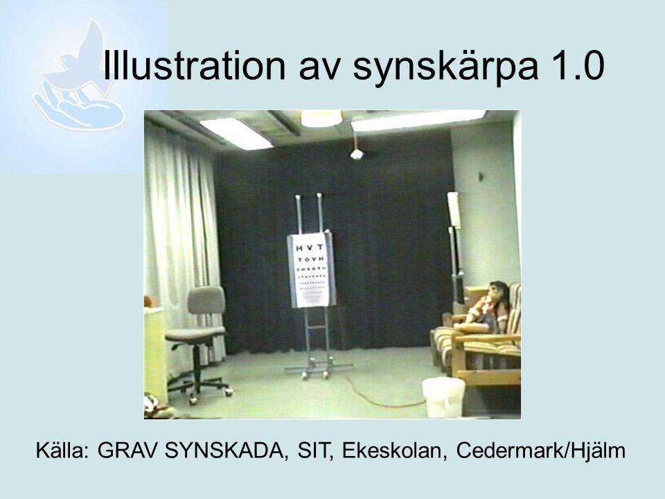 Syntolkning av bilden, synskärpa 1.0 På bilden visas ett rum.