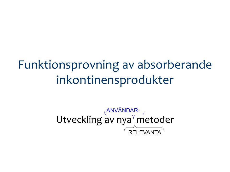 NIKOLA 2010-10-22 Anne Farbrot, SCA Personal Care & Ida Gustafsson, Attends Health Care Edanas Mannequin-metod Video