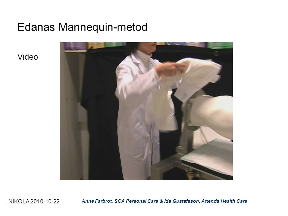 NIKOLA 2010-10-22 Anne Farbrot, SCA Personal Care & Ida Gustafsson, Attends Health Care Edanas Mannequin-metod Video
